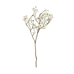 White Dogwood Blossom Branch 40""