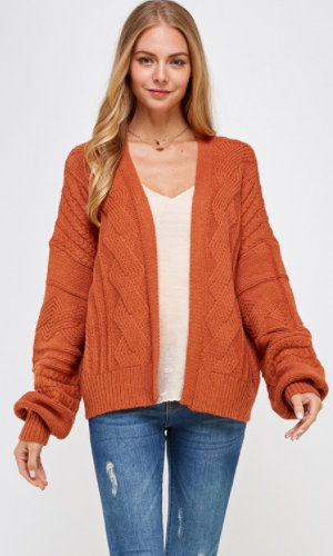 Allegra Over Sized Cable Knit Sweater