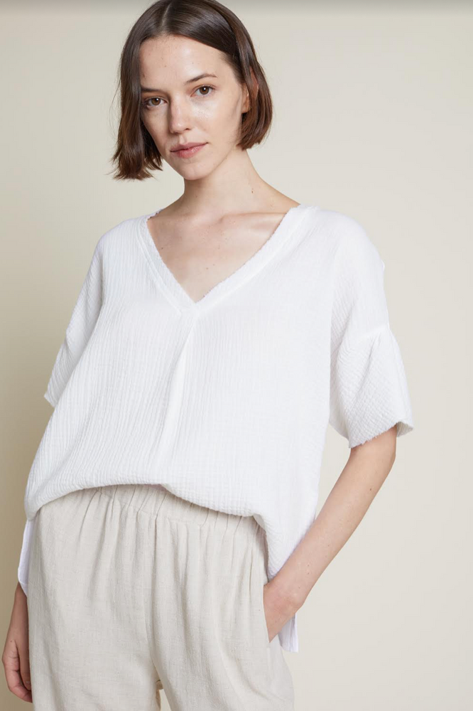 Cotton Double Gauze Blouse