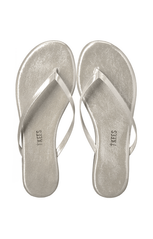 Load image into Gallery viewer, TKees Flip Flops - Silver Gleam