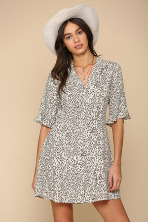Load image into Gallery viewer, Les Dress in Leopard