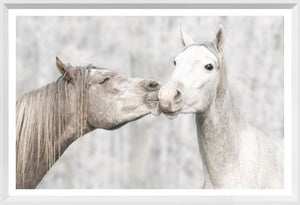 Load image into Gallery viewer, Kissing Ponies Wall Art