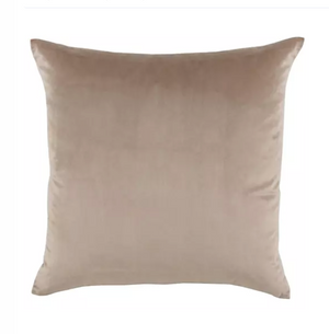 Nude Velvet & Linen Pillow