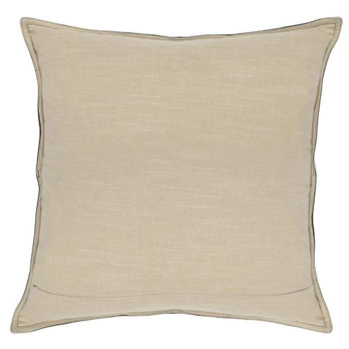 Grey Leather Pillow