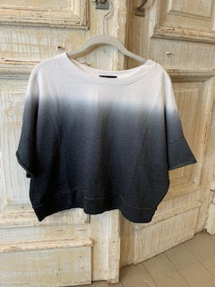 Load image into Gallery viewer, French Terry Dip Dye Boxy Top