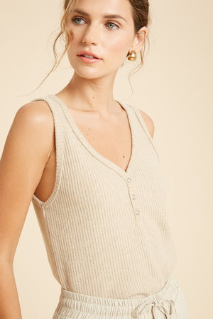 Load image into Gallery viewer, Brushed Rib Sleeveless Top