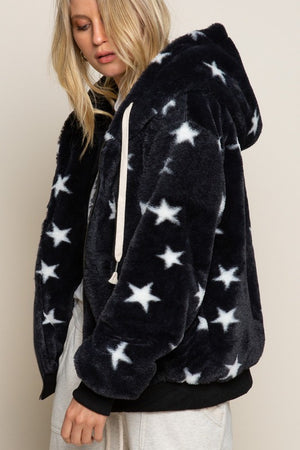 Load image into Gallery viewer, Sherpa Fur Star Hoodie