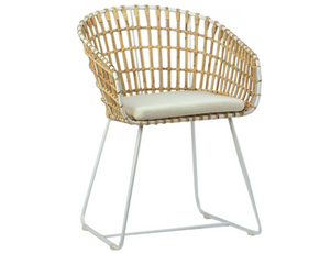 Rattan & Iron Chair