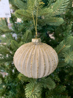 Wide Fluted Glass Ornament