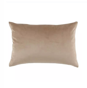 Load image into Gallery viewer, Nude Velvet & Linen Lumbar Pillow
