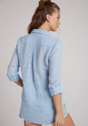 Paint Splattered Linen Shirt by Bella Dahl