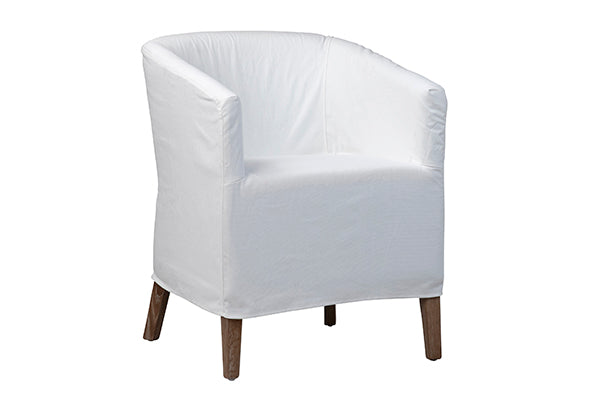 White Slipcovered Willow Chair