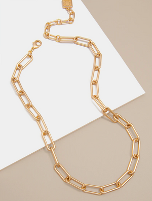 18k Gold Plated Chain Link Necklace