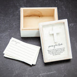 Whitewash Prayer Box with Cards