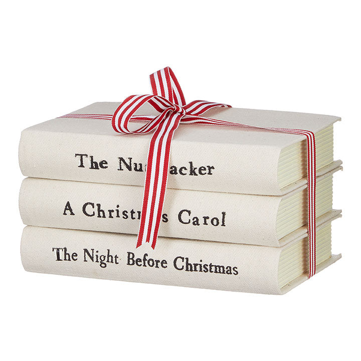 Stacked Christmas Books