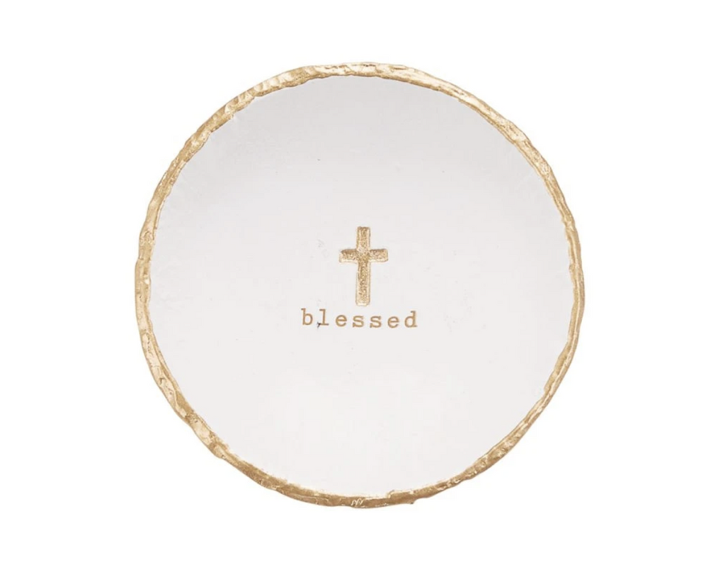 Blessed Trinket Dish with Gold Foil