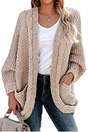 Tan Chunky Cable Knit Sweater