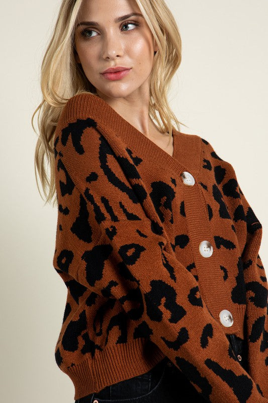 Load image into Gallery viewer, Dianne Leopard Print Cardigan