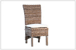 Woven Rattan Dining Chair with Cushion