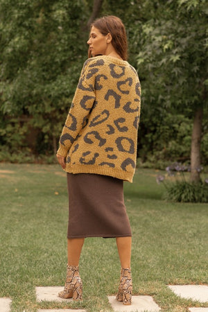 Load image into Gallery viewer, Leopard Open Front Cardigan