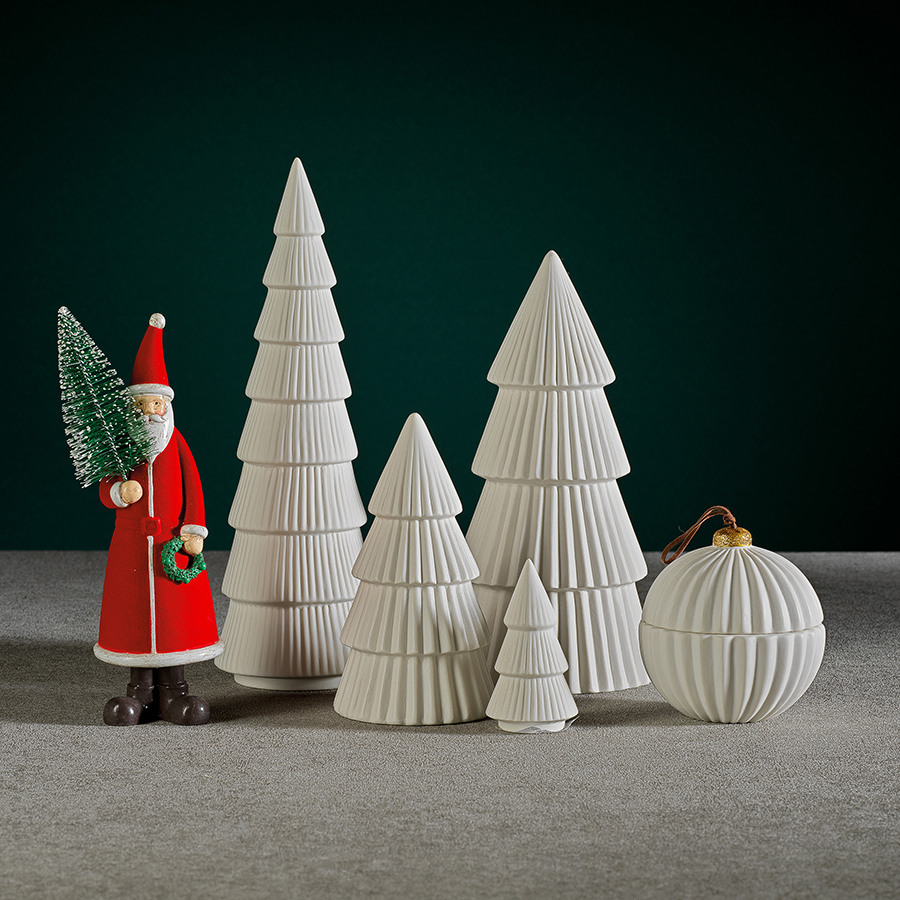 Matte White Ceramic Holiday Tree - 10.25""