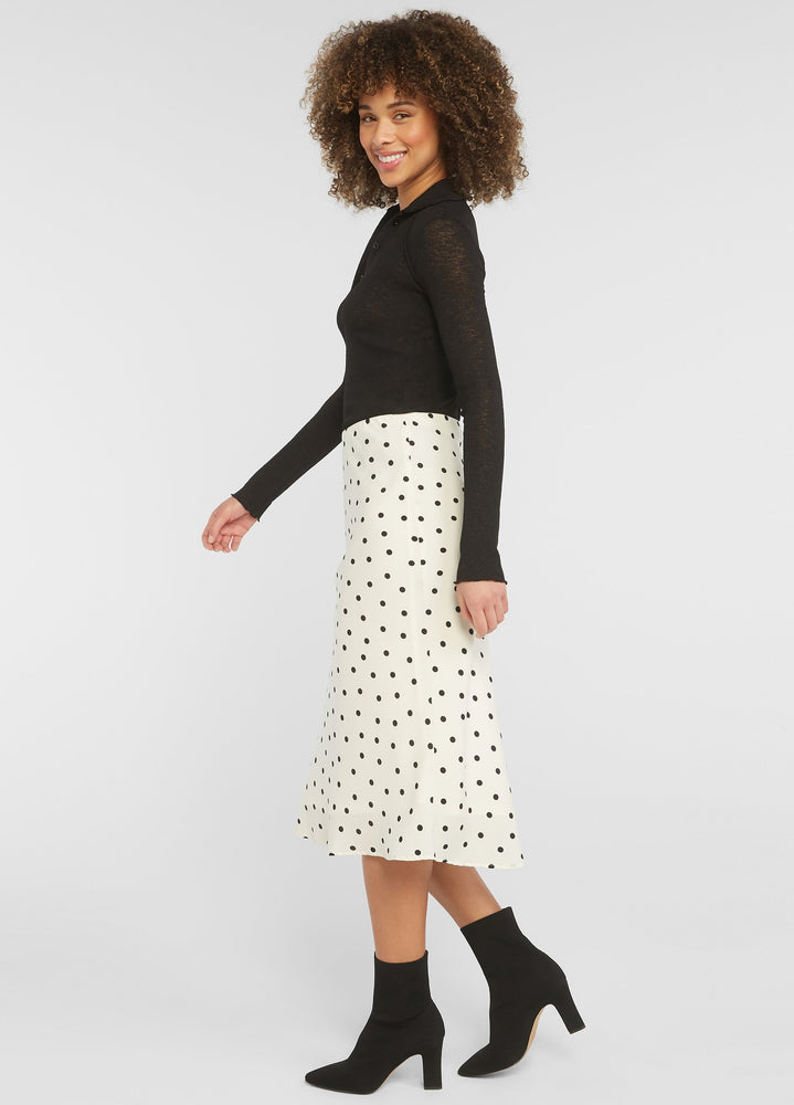 Load image into Gallery viewer, Polka Dots Midi Skirt