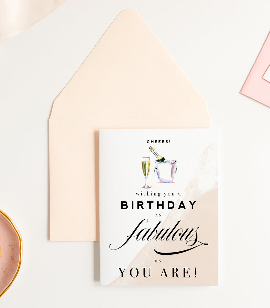 Wishing You a Birthday as Fabulous as You Are Greeting Card