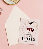 You're Tough As Nails Greeting Card