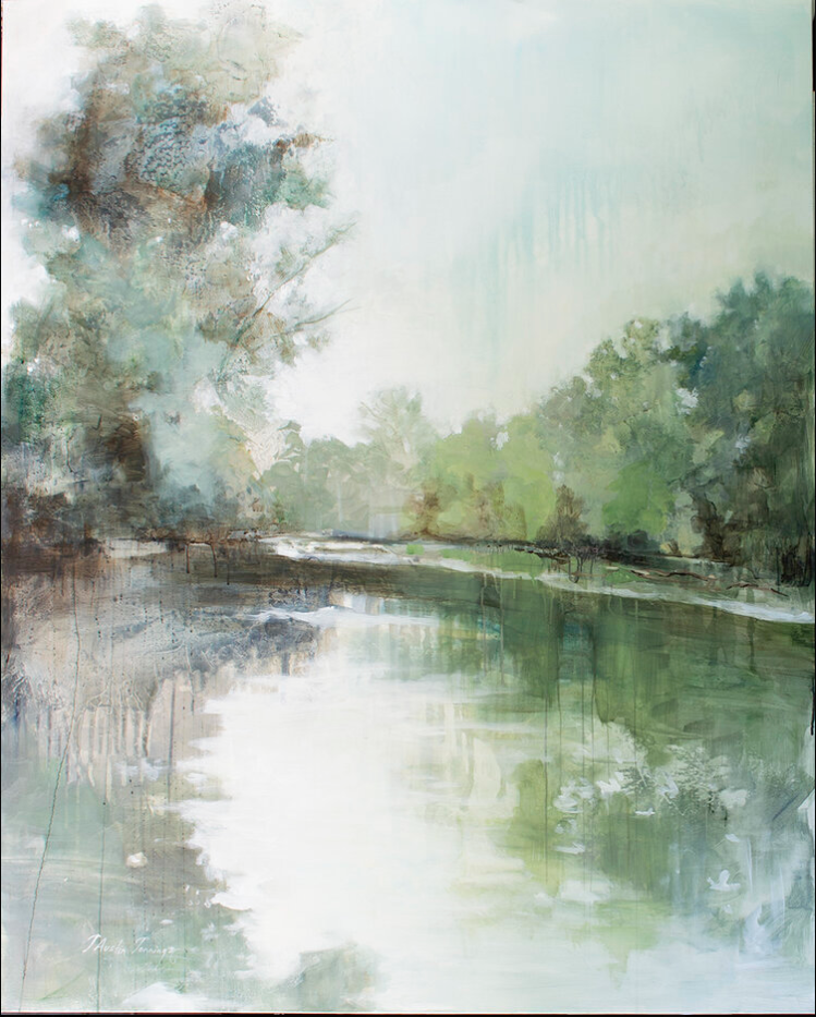 River in August Original Art - Jennings