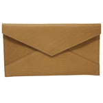 Remy Leather Envelope Clutch - Tan
