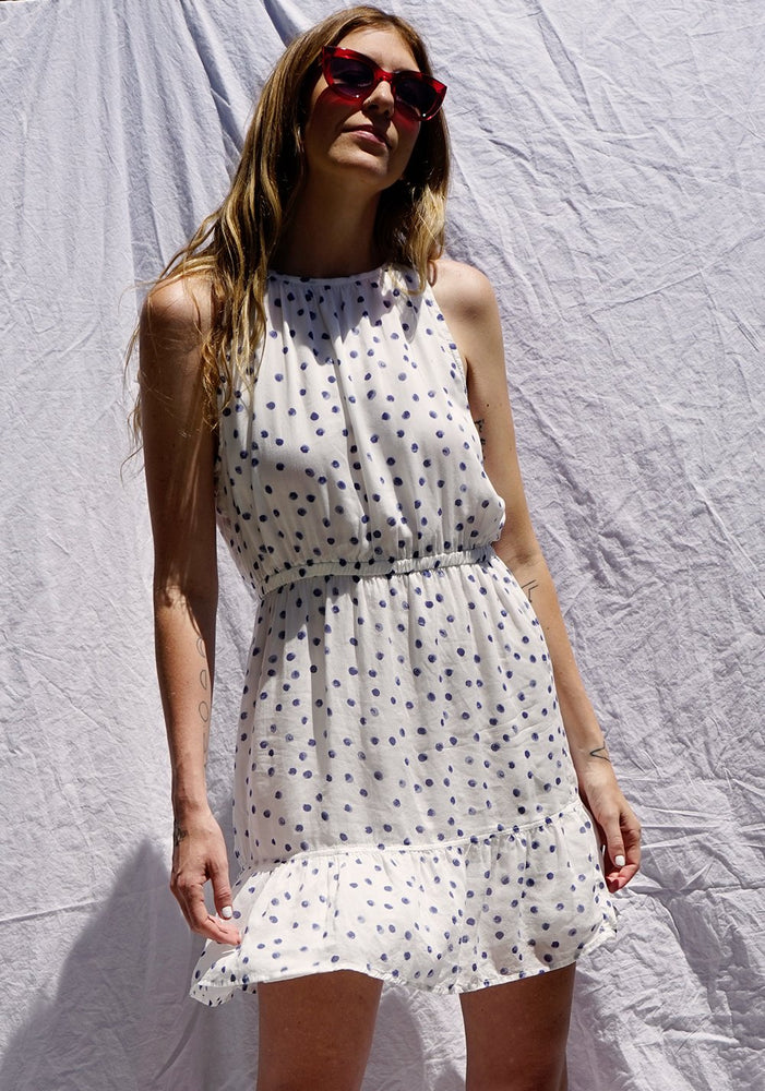 Load image into Gallery viewer, White Halter Dress by Bella Dahl