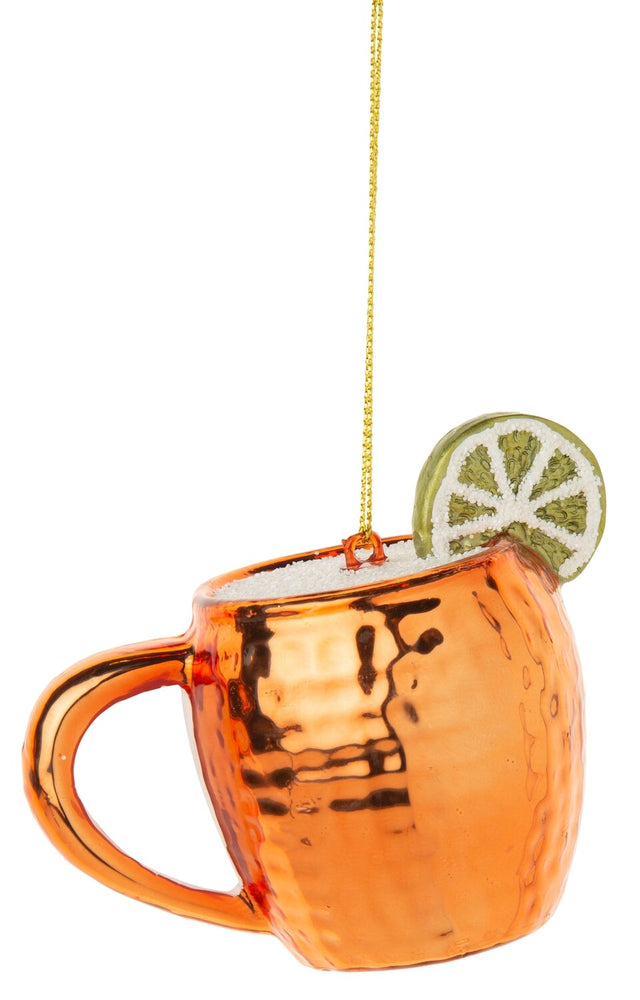Load image into Gallery viewer, Glass Moscow Mule Mug Ornament