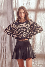 Shaggy Design Print Knit Sweater