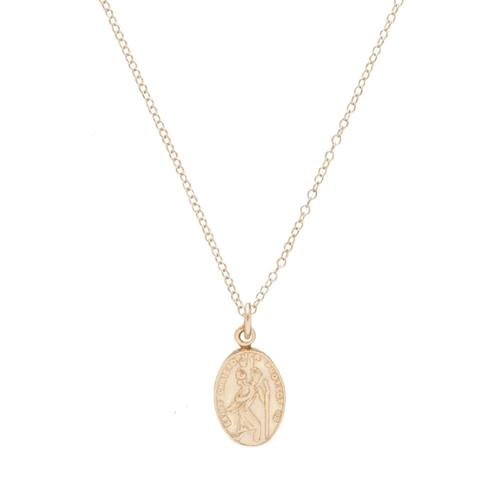 Load image into Gallery viewer, Protection Small Gold Charm Necklace