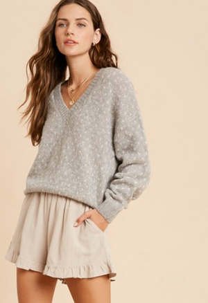 Heart Stitch Pullover Sweater