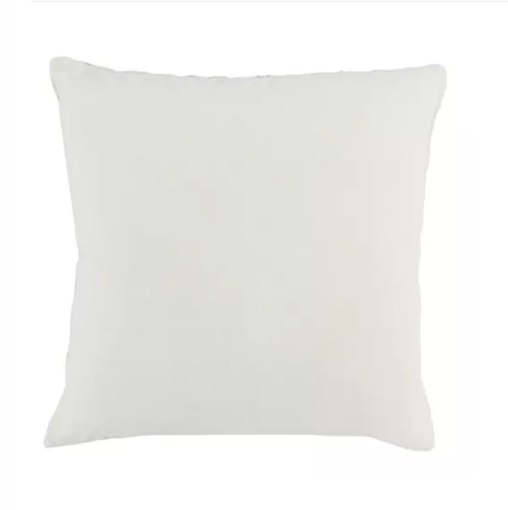 Ivory Chenille Embroidered Pillow