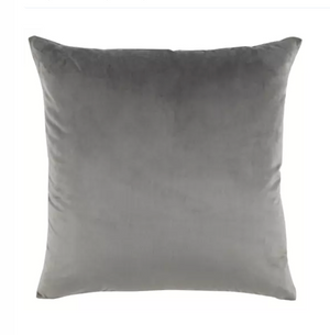Grey Velvet & Linen Pillow