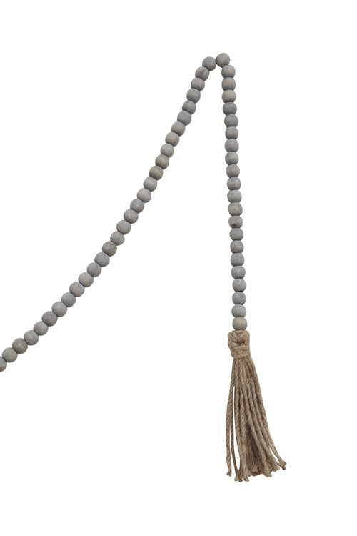 Load image into Gallery viewer, Grey Jute & Wood Bead Garland