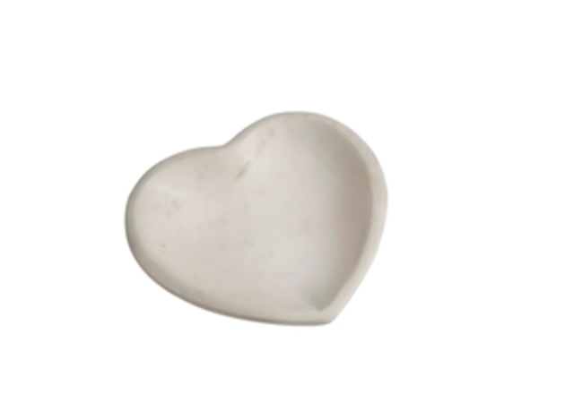Small Marble Heart Shaped Bowl