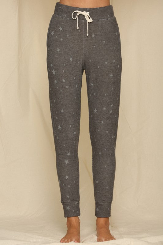 Knit French Terry Star Print Joggers