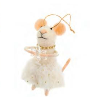 Miss Carolina Mouse Ornament