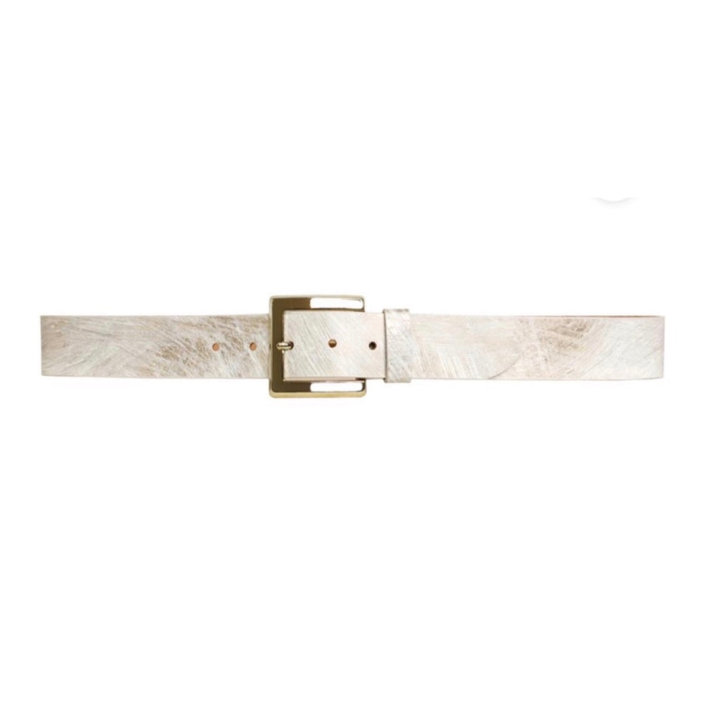 Lola Belt in Shimmery White