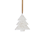 Small Gold Speckled Tree Ornament