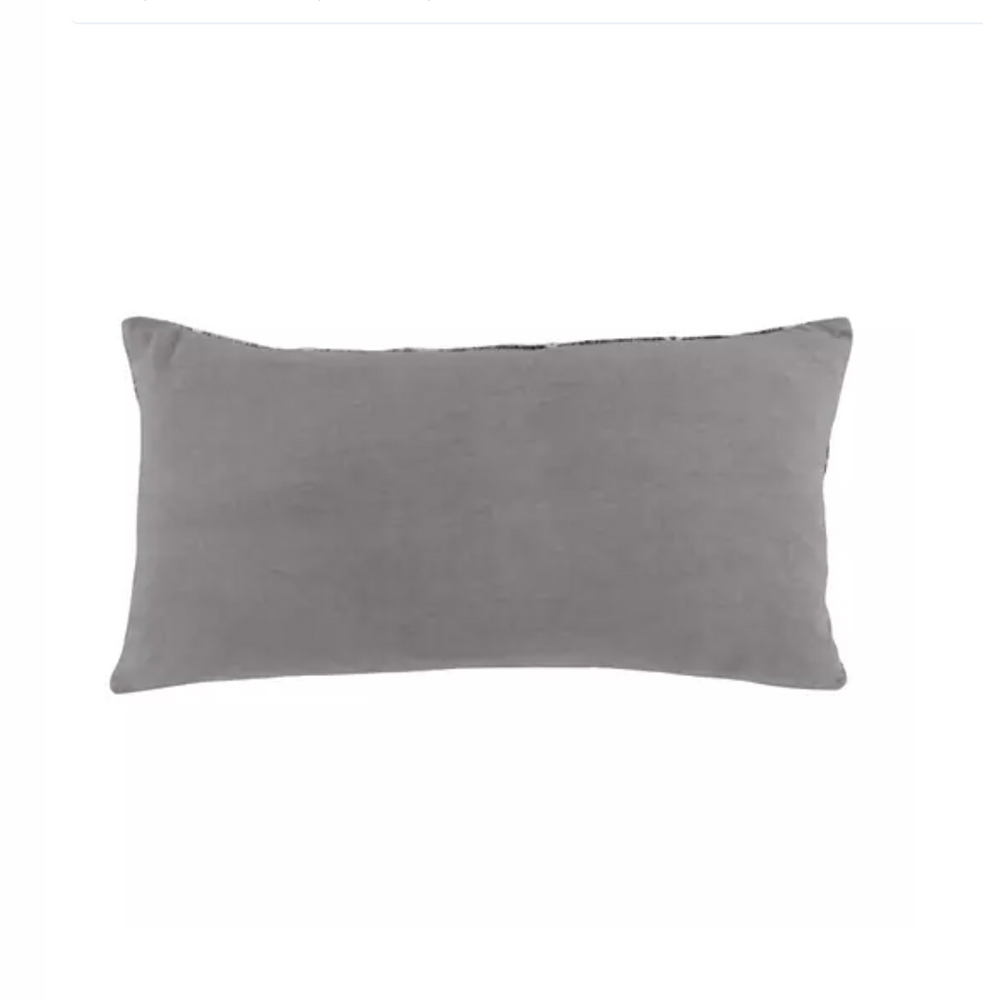 Mixed Grey Lumbar Pillow