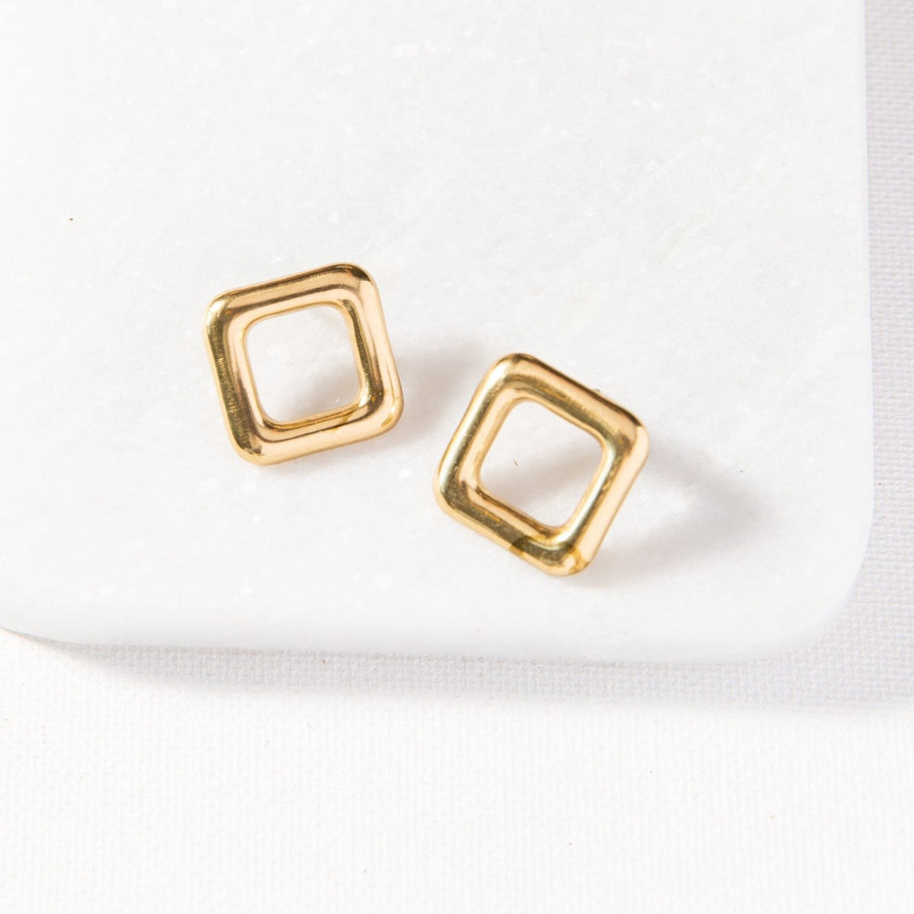 Small Square Outline Earring