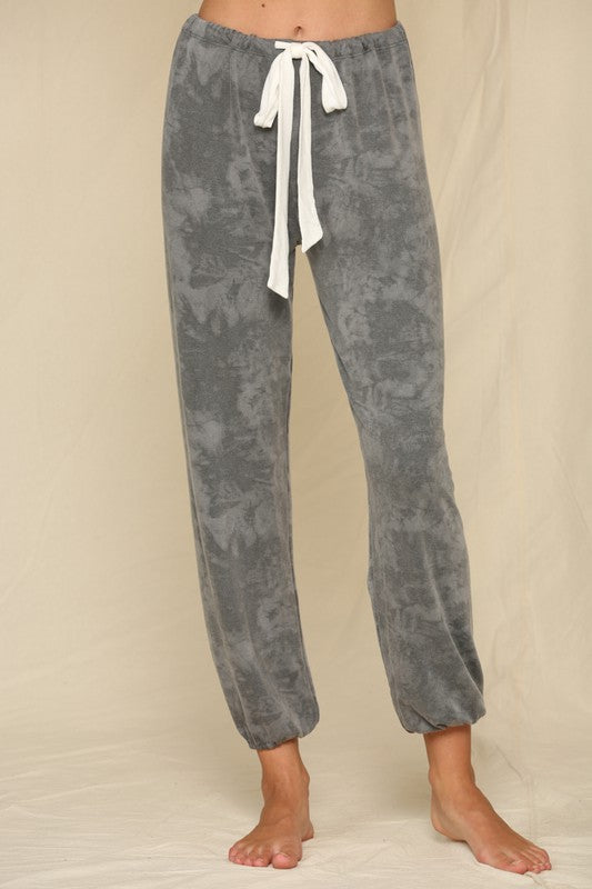 Tie Dye Print French Terry Sweat Pants