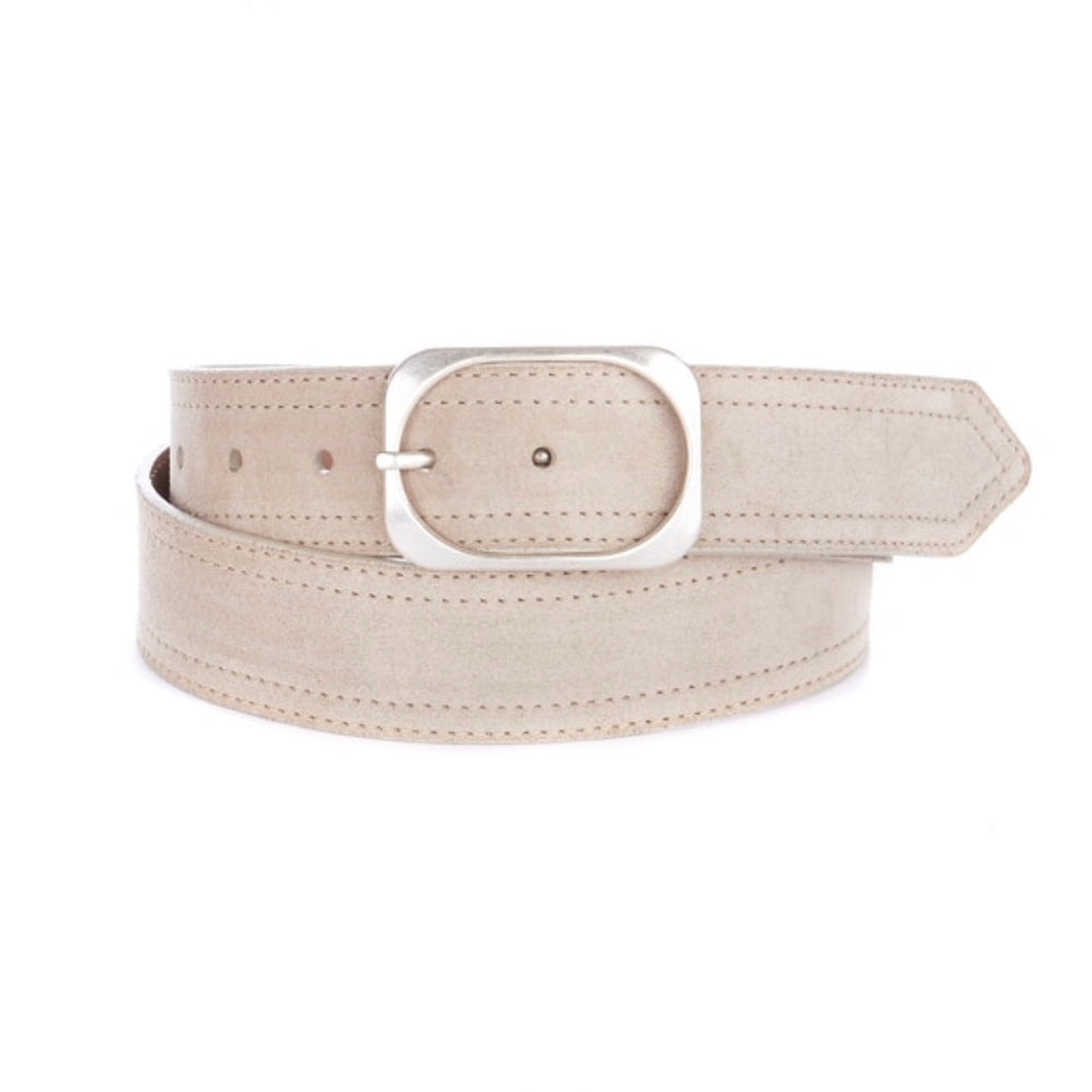 Otta Italian Leather Belt in Sand
