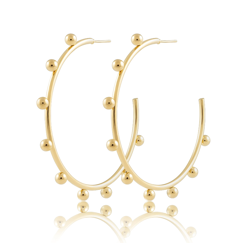 Erin Studded Hoops