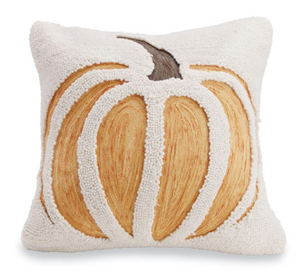 Load image into Gallery viewer, Hooked Pumpkin Pillow