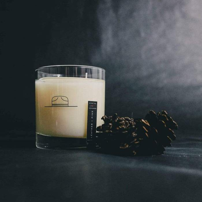 Leather + Pine Candle 8oz